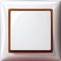 Белый, вставка оранжевый